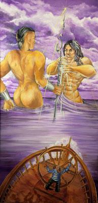 le Bateau Ivre huile sur toile 2009. texte: Arthur Rimbaud, lu par Denis Lavant