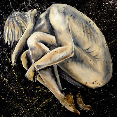Angoisse  , huile au couteau sur toile 2008. texte: Arthur Rimbaud, lu par Simon Z