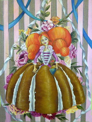 Charlotte, huile sur toile 50x60cm, 2012 Vendu