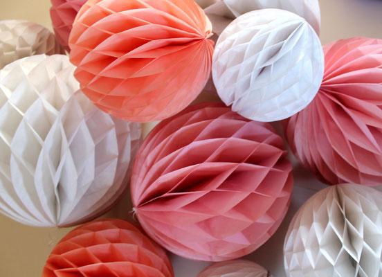 Papierball Set / Wabenball Set Dekoration Hochzeitsdekoration