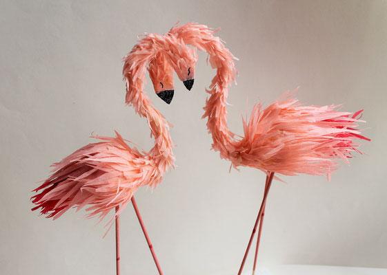 Cake Topper Flamingo HOchzeitstorte Tortendekoration Tropic HOchzeitsbuffet