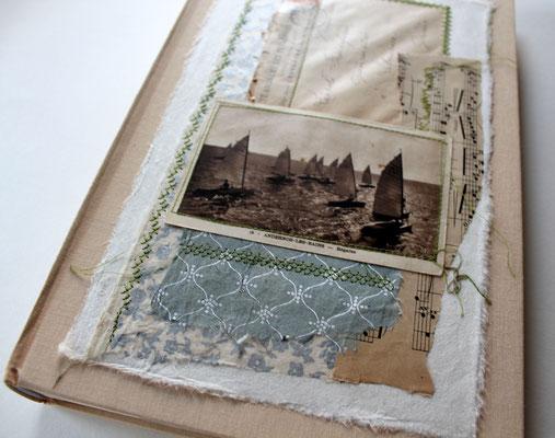 Fotoalbum mit Collage, ALbum , Einsteckalbum,Frankreich Collage Meer,Schiffe Album Fotoalbum Boote