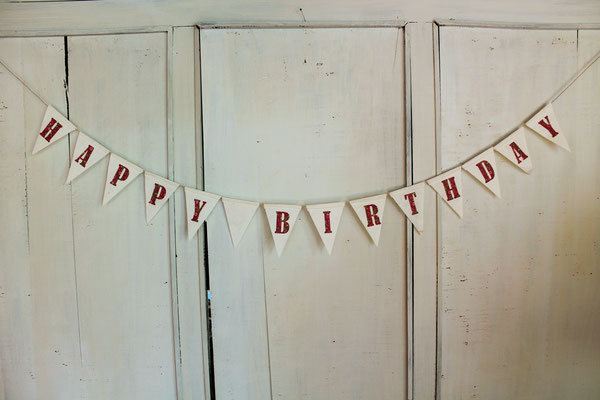 Happy Birthday Girlande Wimpelkette, Papiergirlande,