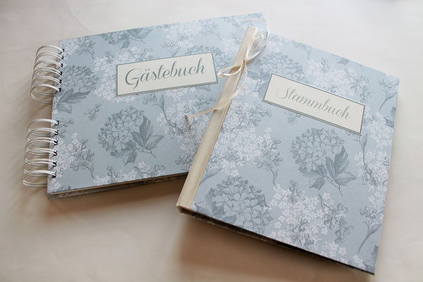 Gästebuch Stammbuch HOchzeit Wedding Decoration Dekoration Grey Flower