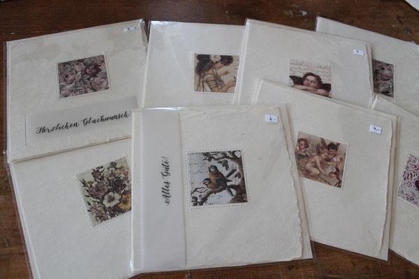 handgefertigte Karten aus Naturpapier
