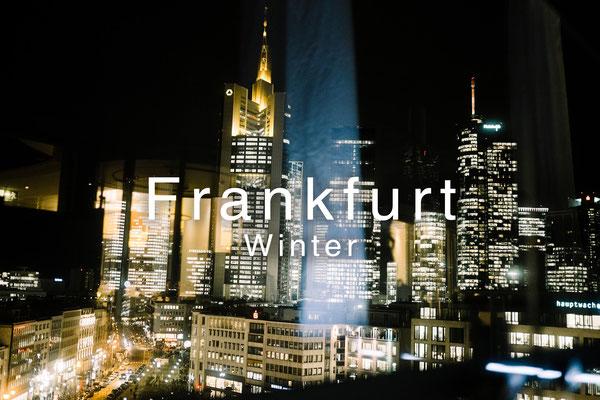 Frankfurt skyline Weihnachtsmarkt Fotografie