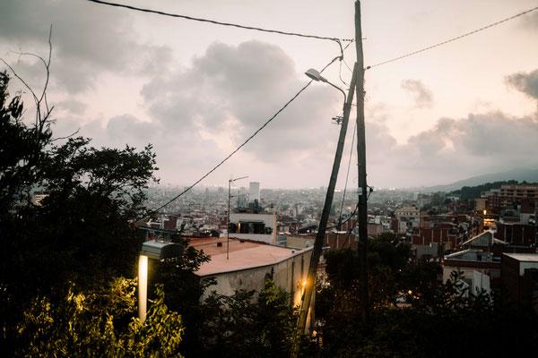Barcelona streetphotography Telefonmast