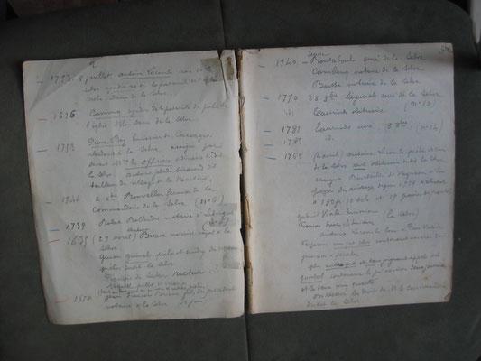 Une page de cahier