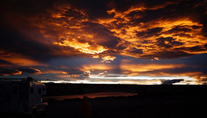 Sonnenuntergang in der Pampas
