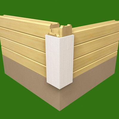 Holzhaus - Blockhaus - Blockhaus  als Stadthaus - Individuelle Blockhäuser zum Wohnen - Einfamilienhäuser - Holzhäuser für Stadtgebiete