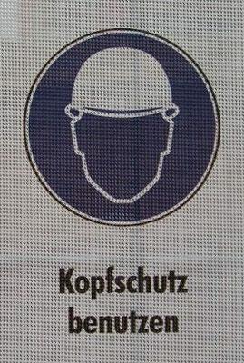 Kopfschutz auf der Baustelle