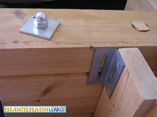 Thermowand für Blockhäuser:  Wenig Holz, viel günstige Wärmedämmstoffe, hohe Montageaufwand