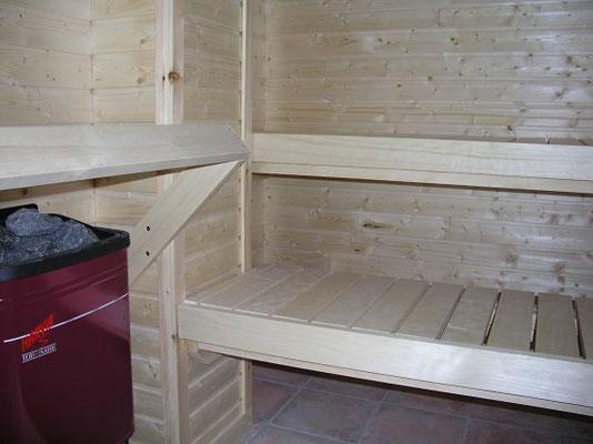 Sauna, innen