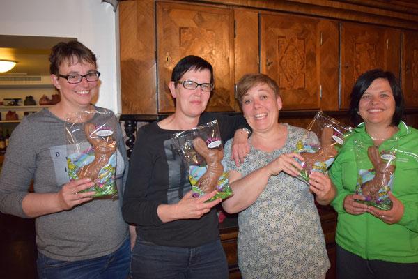 Die Siegerinnen: Judith, Martina, Gabi, Christine
