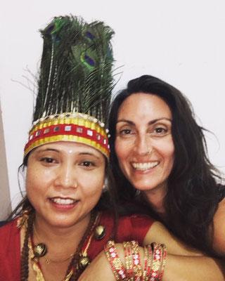 Avec Dawa Lamo, chamane Nepalaise