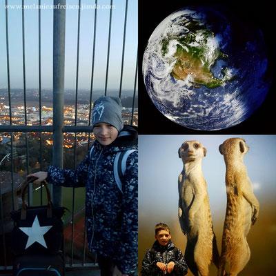 Junior mit seinen Lieblingstieren / sagenhafte Aussicht auf´s Centro & die Erde