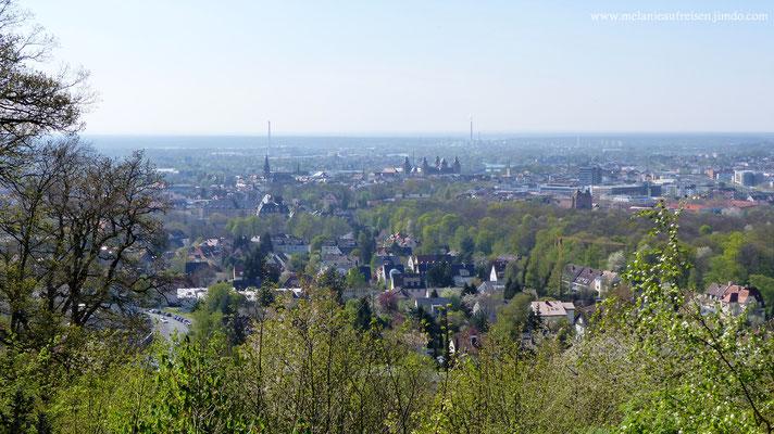 Blick von der Teufelskanzel auf Aschaffenburg