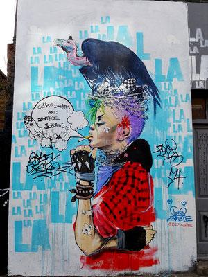 Punkt & Geier in London - Streetart im englischen Stil