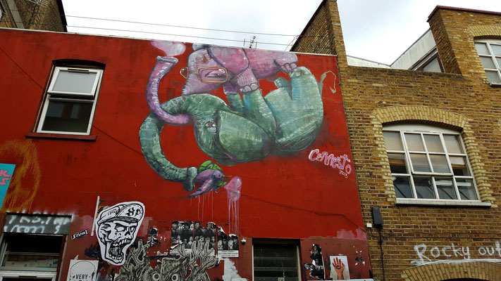 Liebende Elefanten in London - Shoreditch