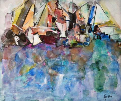Hafenstimmung - Aquarell