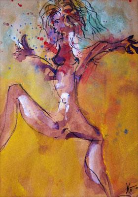 KW 08: Ein verrückter Tanz - Aquarell