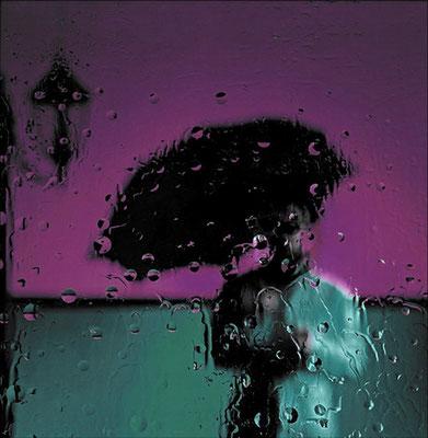 Einsam im Regen