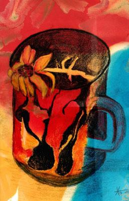 KW 19: Stillleben mit verwelkter Blume