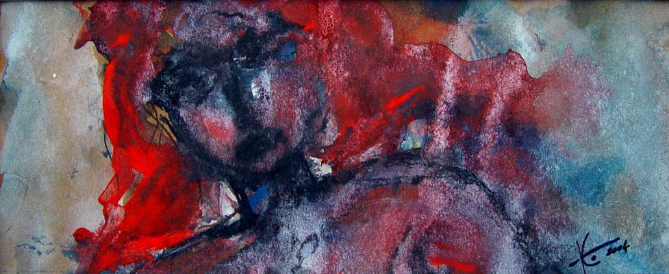 KW 05: Die rote Lola - Aquarell