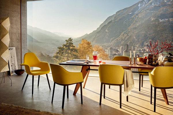 Table design classique Prouvé Solvay Vitra