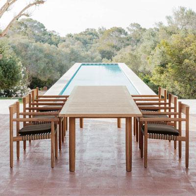 Table et chaise à manger d'extérieur Tibbo Dedon