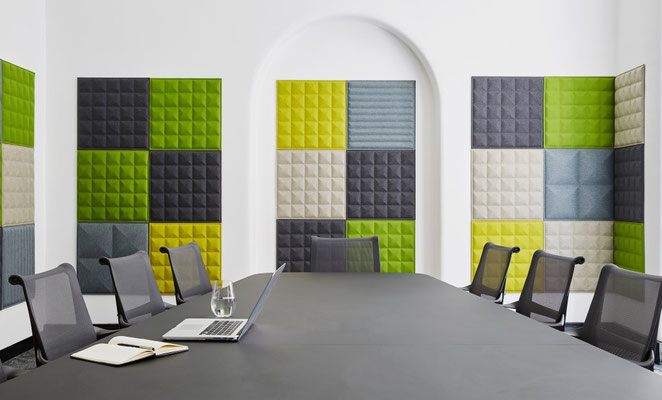 Solution acoustique murale BuzziTile BuzziSpace