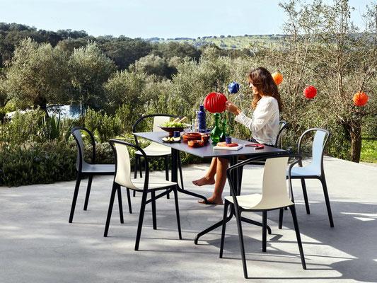 Table et chaise d'extérieur Belleville Vitra
