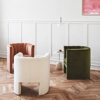 Fauteuil velours Loaf AndTradition
