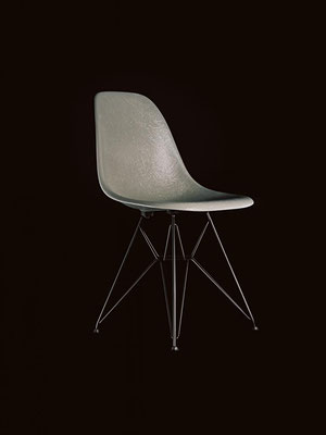 Vitra Eames Fiberglass Chair Elephant Hide Grey