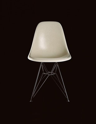 Vitra Eames Fiberglass Chair Parchment