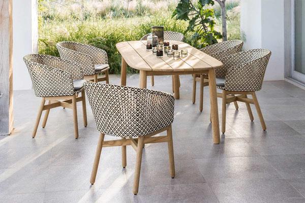 Table et chaise à manger d'extérieur Mbrace Dedon