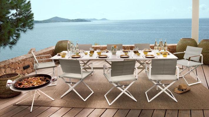 Table et chaise à manger d'extérieur SeaX Dedon