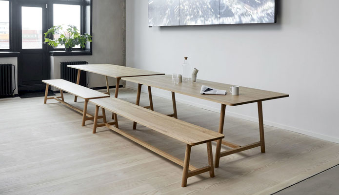 Table bois / chêne huillé Frame HAY