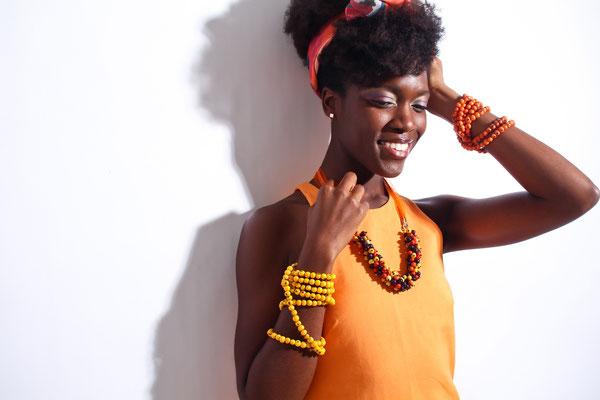 collier sautoir en graine de palmier acai brésil rio paris indahia jewellery