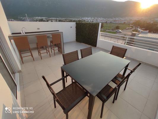 Terraza 1 casa modelo Verona Brianzzas Residencial en Escobedo Nuevo Leon