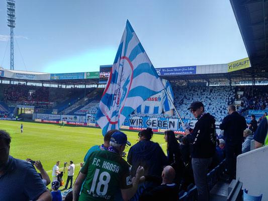 Hansa Rostock gegen Hallescher FC 06.05.2018