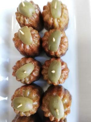 Apéritif sans gluten - cannelés Olives pesto -Bordeaux - Les Cannelés d'Audrey