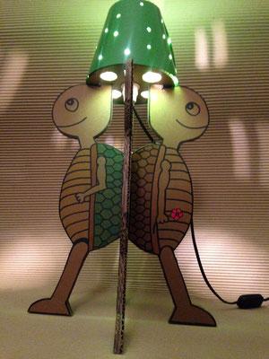 """""""Vieilles Tortues"""" de la série """"Lampe à Monter"""" soi-même, Ampoule LED raccordement sur secteur (220V)."""