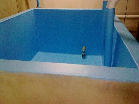 Recubrimiento tinas de lavado