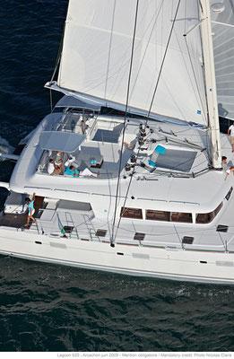 Luxus Katamaran Sizilien Liparische Inseln