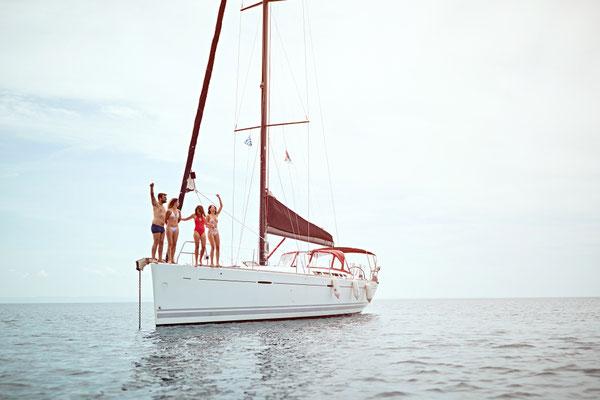 Yacht mit Skipper