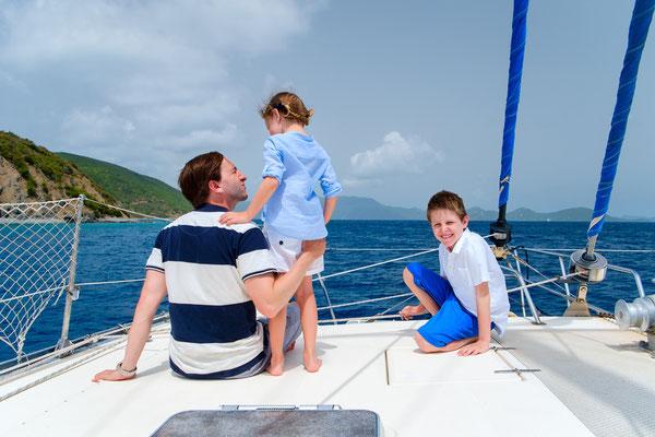 Kindersegeln in den Schulferien mit Skipper im Mittelmeer