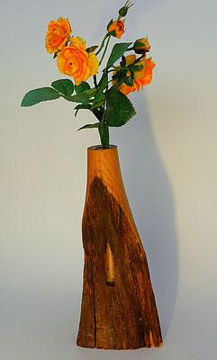 Vase 4: mit Glaseinsatz  H: 230mm, B x T: 100 x 50mm