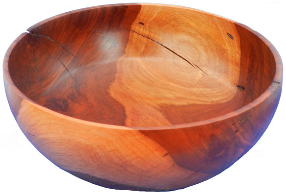 Schale 19: Kirschbaum  H: 90 mm,  Ø: 220 mm,  Wandstärke: 4 mm
