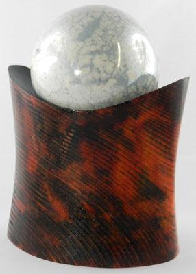 Dose 3: Ovale Dose, Ø: 70-110 mm, H: 150 mm, Kugel aus Keramik Ø: 76 mm